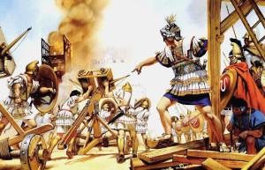 Alejandro Magno en el sitio de Tiro, 332 a.C.